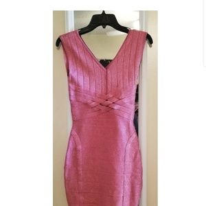 Sparkly pink cocktail dress